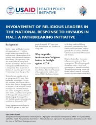 involvement of religious leaders in the national response to hiv/aids ...