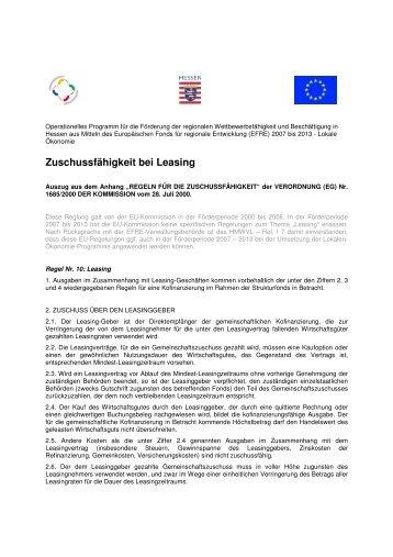 0-Leasing Zuschussfähigkeit - baunatalaktiv.de