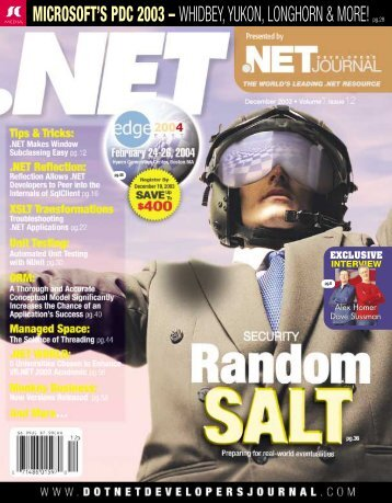 DNDJ 1-12 Dec.(NEWCONF - sys-con.com's archive of magazines ...