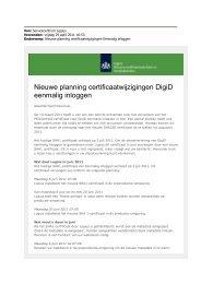 Nieuwe planning certificaatwijzigingen DigiD eenmalig ... - Logius