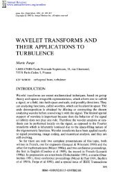 wavelet transforms and their applications to turbulence - Wavelets ...
