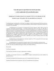 Convenio para la represión de la trata de personas y de la ...