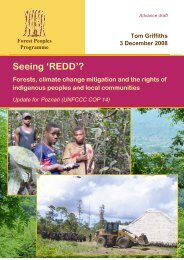 Seeing 'REDD'? - Forest Peoples Programme