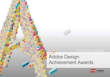 Adobe Design Achievement Awards Nicolas kiéné