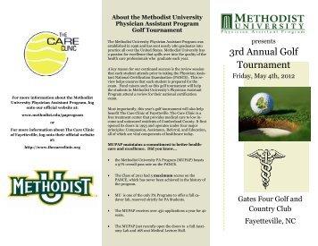 3rd Annual Golf Tournament - Methodist University