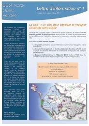 lettre d'information n°1 - SCOT du Nord Ouest Vendée - Proscot