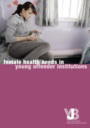female health needs in young offender institutions - Youth justice