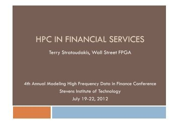 presentation - Financial Systems Center - Stevens Institute of ...