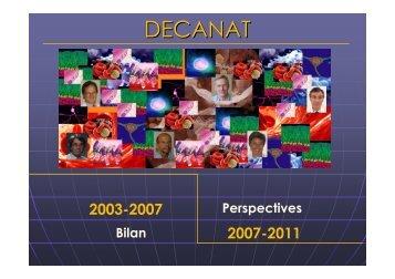 DECANAT - Faculté de Médecine - Université de Genève