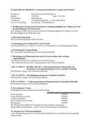 Protokoll über die öffentliche 11. Sitzung des Ortsbeirates Lentzke ...