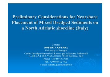 Preliminary Considerations for Nearshore Placement ... - About Project