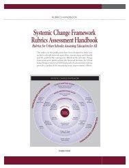 Systemic Change Framework Rubrics ... - NIUSI Leadscape