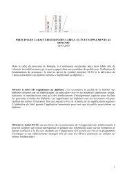 principales caractéristiques des labels ECTS et SD - Agence Europe ...