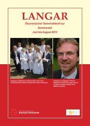 Juni bis August 2013 - Deutschsprachige Protestantische ...