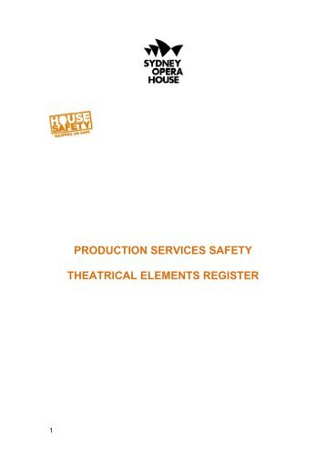 production services safety theatrical elements register