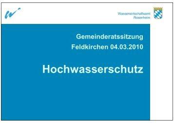 Hochwasserschutz - Wasserwirtschaftsamt Rosenheim - Bayern