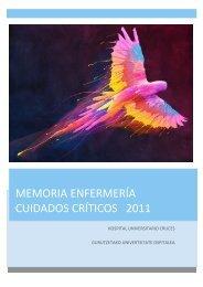 memoria criticos 2011 - EXTRANET - Hospital Universitario Cruces