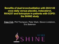 Benefits of dual bronchodilation with QVA149 once daily