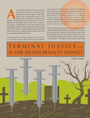 TERMINAL JUSTICE— - The Bar Association of San Francisco