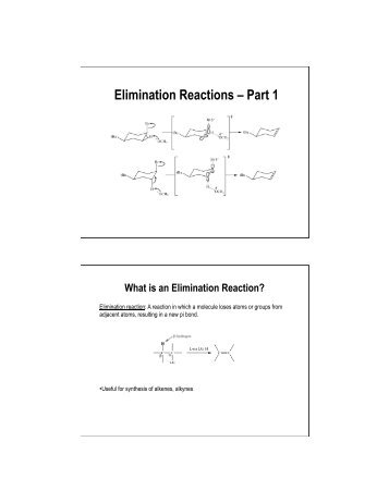 Elimination Reactions – Part 1 - International Year of Chemistry 2011