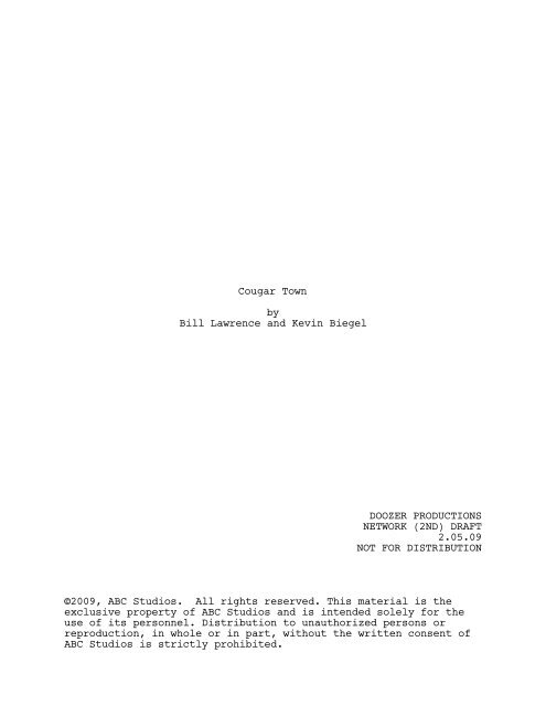Cougar Town by Bill Lawrence and Kevin Biegel ... - Zen 134237