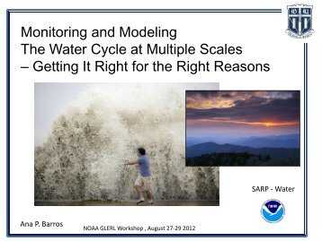 Monitoring and Modeling The Water Cycle at ... - GLERL - NOAA