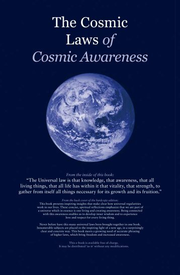 The Cosmic Laws of Cosmic Awareness