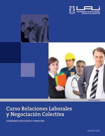 Curso Relaciones Laborales y Negociación Colectiva - Universidad ...