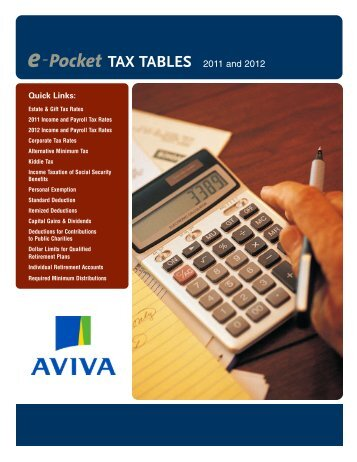 2011-2012 e-Pocket Tax Tables - Consolpro
