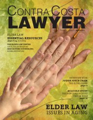 Elder Law: Issues in Aging - Contra Costa County Bar Association