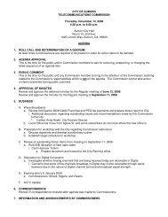 CITY OF AUBURN TELECOMMUNICATIONS COMMISSION ...
