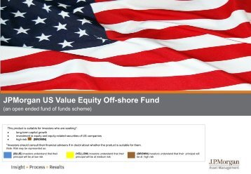 JPMorgan US Value Equity Off-shore Fund - JP Morgan Asset ...