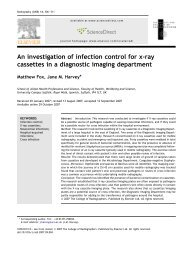 An investigation of infection control for x-ray cassettes in a ...