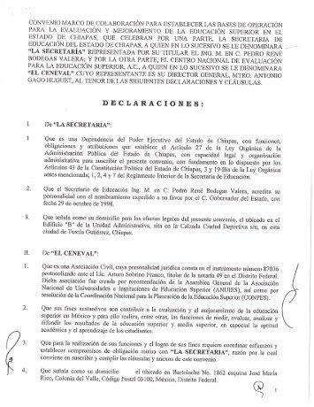 Convenio de Colaboración Secretaría de Educación y CENEVAL