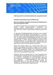 Erklärung der ASJ zur aktuellen Debatte über Jugendkriminalität ...