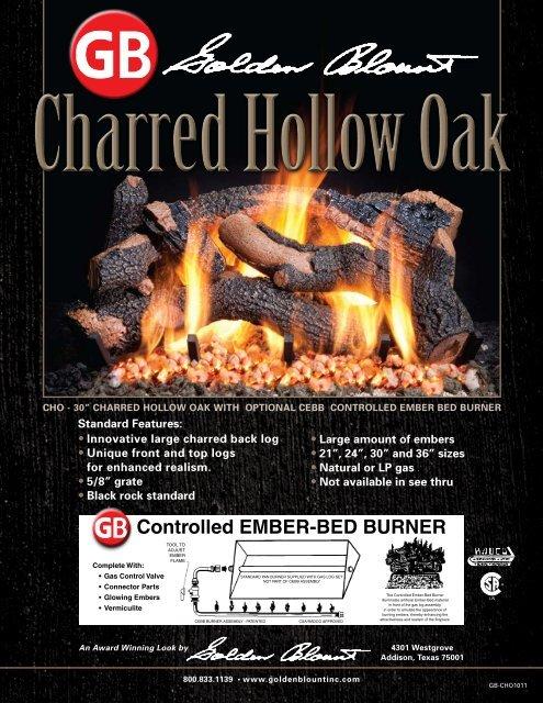 Controlled Ember Bed Burner Golden Blount