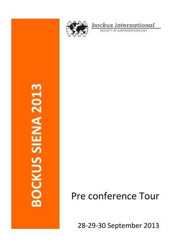 BOCKUS PRE CONFERENCE TOUR 10 aprile - Unisi.it