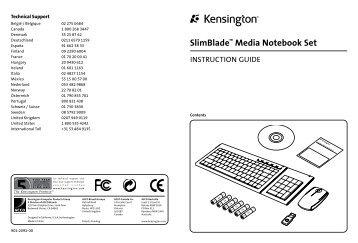 SlimBlade™ Media Notebook Set - FAQ