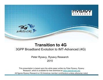 Presentation slides for this white paper - 4G Americas