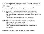 Les entreprises européennes : entre succès et déboires - Laval