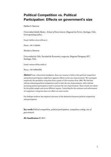Political Competition vs. Political Participation - Universidad Adolfo ...