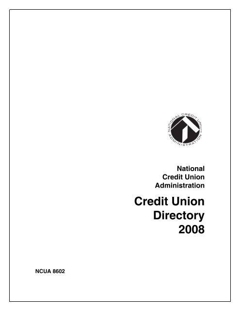 Credit Union Directory 2008 - NCUA