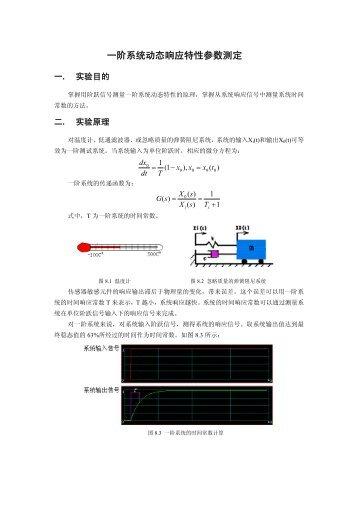 一阶系统动态响应特性参数测定