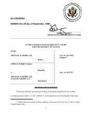 05-05755 Parks v. Berry et al - US Bankruptcy Court
