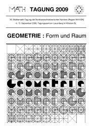 GEOMETRIE : Form und Raum TAGUNG 2009 - WOLFsWEB