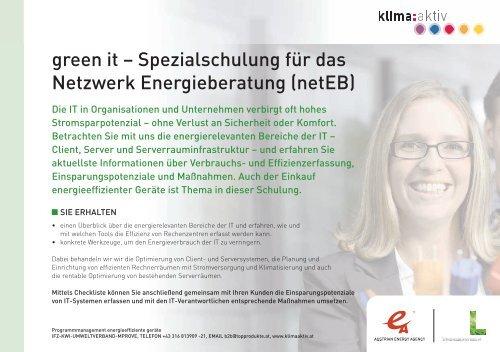 Programm - Netzwerk Energieberatung Steiermark