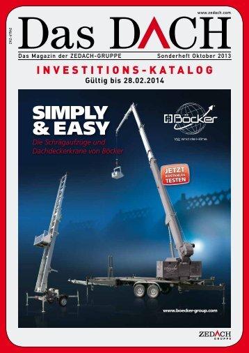 Investitionsprogramm 2013/2014 - ZEDACH eG
