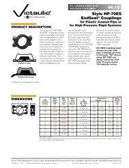 06.13 Style HP-70ES EndSeal® Couplings