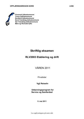Skriftlig eksamen - Sør-Trøndelag fylkeskommune