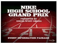 Nike High School Grand Prix - Event Information Package (TRO ...
